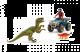 Schleich Dinosaurus 41466 Flucht auf quad vor velociraptor