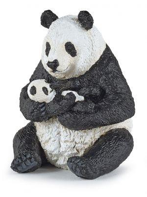 Papo 50196 Wild Zittende Panda Met Jong