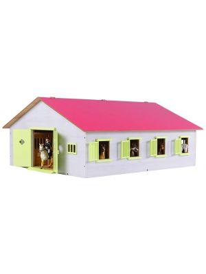 Kids Globe Pferdestall Holz Pink mit 7 Boxen 610189
