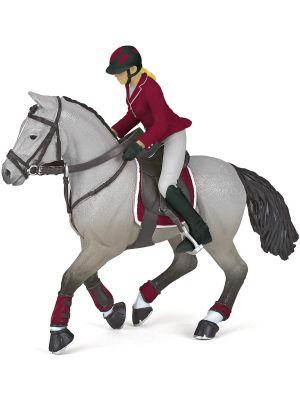 Papo Horses Wedstrijdpaard met zijn Ruiter 51563