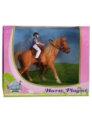 Kids Globe Horse mit Reiter 640078