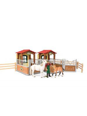Schleich Farm Life 72116 Besuch im offenen Stall