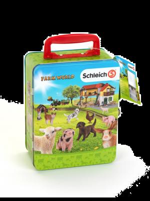 Schleich Farm World Sammelkoffer mit Platz für 18 Babytiere