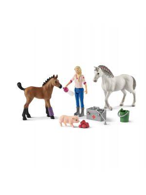 Schleich Farm Life 42486 Arztbesuch bei stute und fohlen
