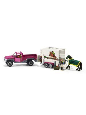 Schleich 42346 Pickup mit Pferdeanhänger
