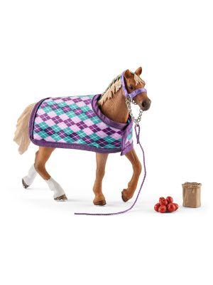 Schleich 42360 Pferd Englisches Vollblut mit Decke