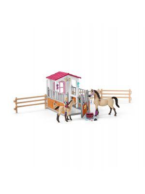 Schleich 42369 Pferdebox mit arabischen Pferde und pflegerin