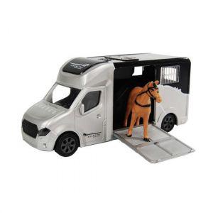 Kids Globe Anemone Pferdewagen, der Licht und Ton 20cm Schwarz 510211 wirft