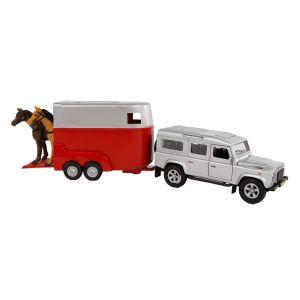 Kids Globe Range Rover mit Pferdeanhänger, 27cm 521712