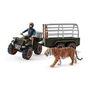 Schleich 42351 Quad mit Anhänger und Ranger und Tiger