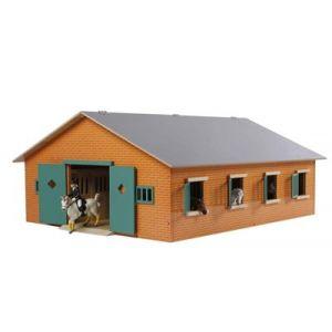 Kids Globe Pferdestall Holz Braun mit 7 Boxen 610195