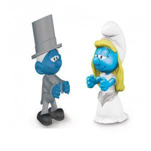 Braut und Bräutigam Schlümpfe