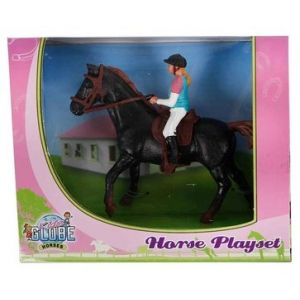 Kids Globe Dunkelbraunes Pferd mit Amazon 640078