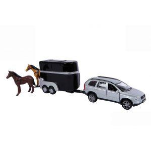Kids Globe Volvo XC90 mit Pferdeanhänger, 27cm 521631