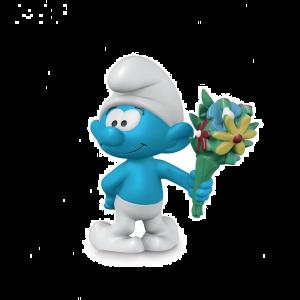 Schleich 20798 Schlumpf mit Blumenstrauß