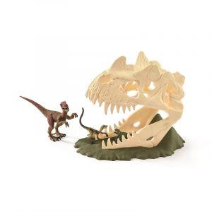 Schleich 42348 Dinosaurier Große Schädelfalle mit Velociraptor