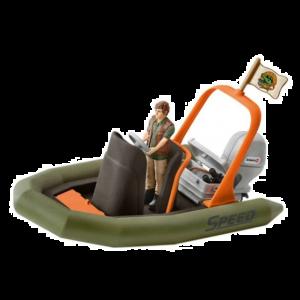 Schleich 42352 Dinhy Schlauchboot mit Ranger