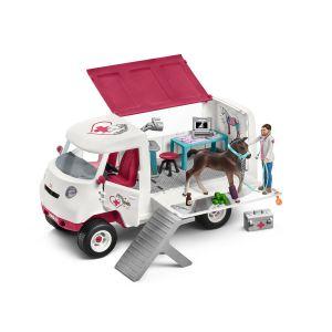 Schleich 42370 Mobil Tierarzt mit Hannover Fohlen