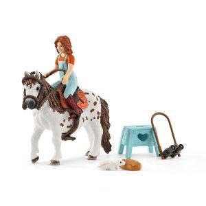 Schleich 42518 Kleine Schwester und Shetland Pony, Stute
