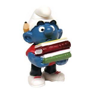 Schleich 20464 Schlumpf mit Bücher