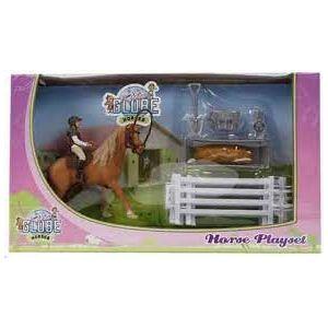 Kids Globe Spielset Pferd mit Reiter und Zubehör 640073